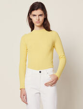 Fine Knit Sweater : null color Yellow
