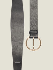 Double Loop Leather Belt : Belts color Black