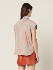 Striped Sleeveless Shirt : null color Green