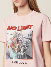 Slogan T-Shirt With Images : null color Pink
