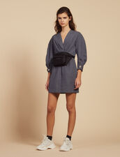 Short Dress With Fine Stripes : All Selection color Blue