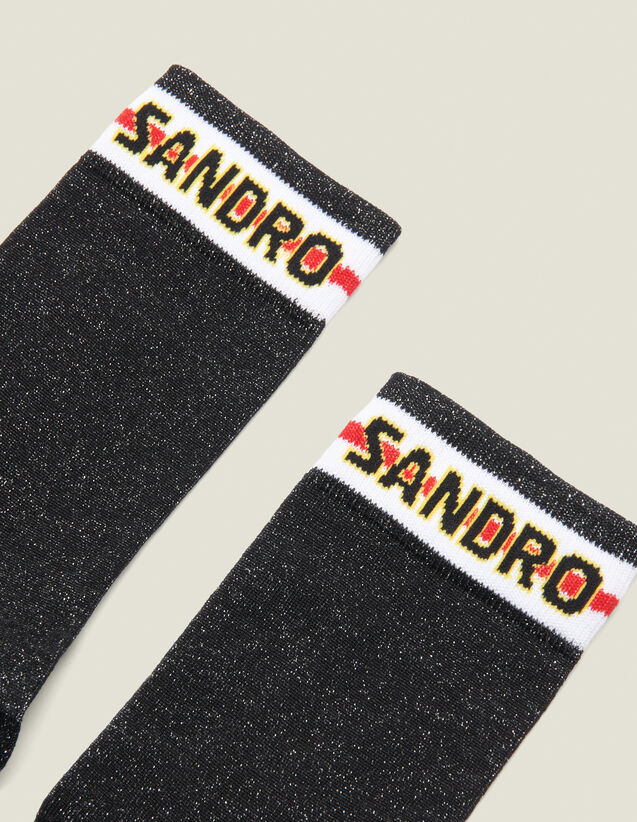 Lurex Socks With Sandro Logo : All Winter collection color Black