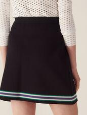 Wraparound-Style Knit Skirt : LastChance-FR-FSelection color Black