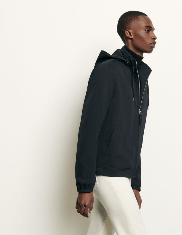 Hooded jacket : Blazers & Jackets color Navy Blue