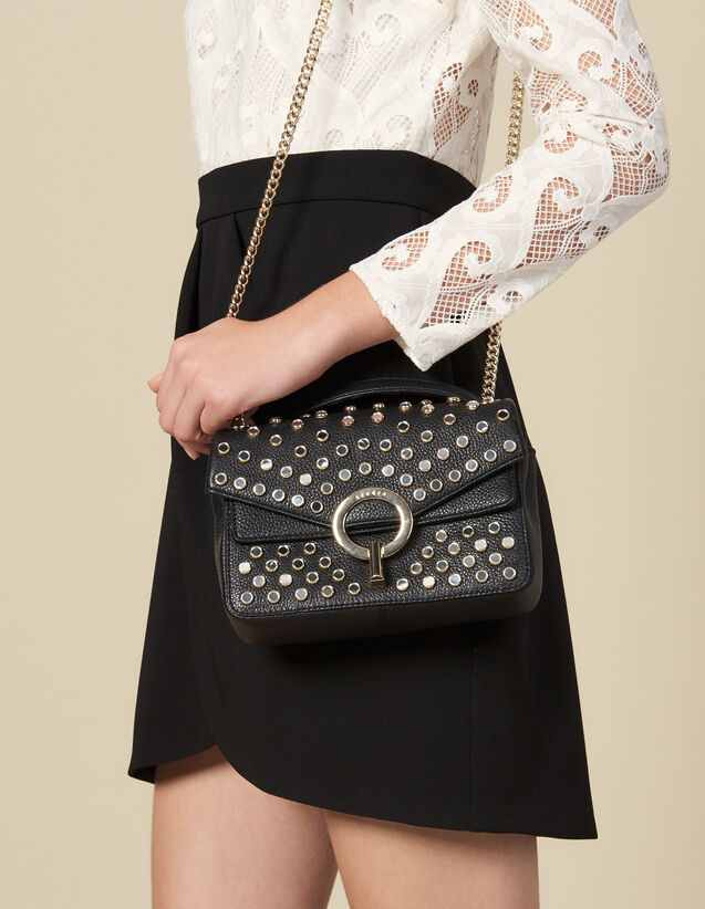 Yza Bag With Studs, Small Model : All Bags color Black