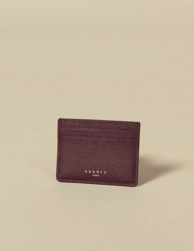 Leather Card Holder : Card Holders & Wallets color Navy Blue