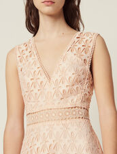 English Guipure Lace Midi Dress : All Selection color Pink