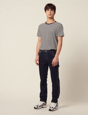 Denim Trousers With Topstitching : All Selection color Midnight Blue Denim