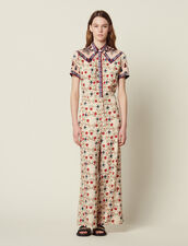 Printed Jumpsuit : null color Multi-Color
