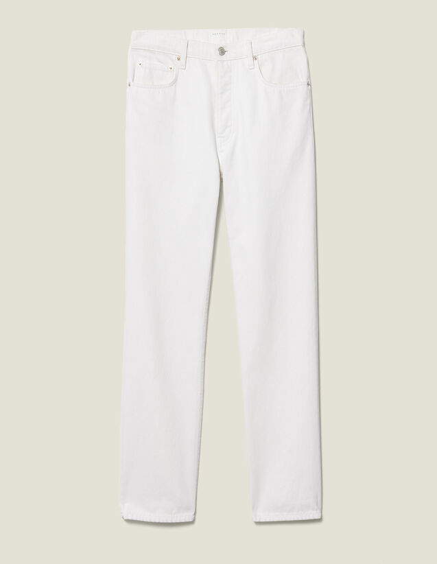 Cotton Slim-Fit Jeans : New Collection color white