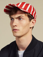 Cap With Contrasting Stripes : All Selection color Red
