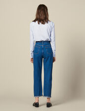 Two-Tone Mom Jeans : Copy of Pants and Jeans color Bleu Denim