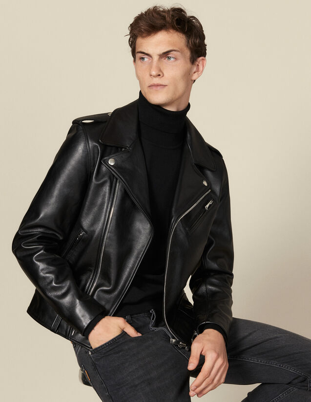 Leather  jacket : Blazers & Jackets color Black