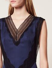 Long Floaty Dress : Dresses color Navy Blue