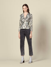 Lurex jacquard top : Tops & Shirts color Multi-Color