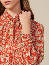 Long printed silk dress : Copy of VP-FR-FSelection-Robes color Red