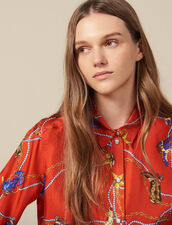 Printed Silk Twill Shirt : LastChance-ES-F50 color Red