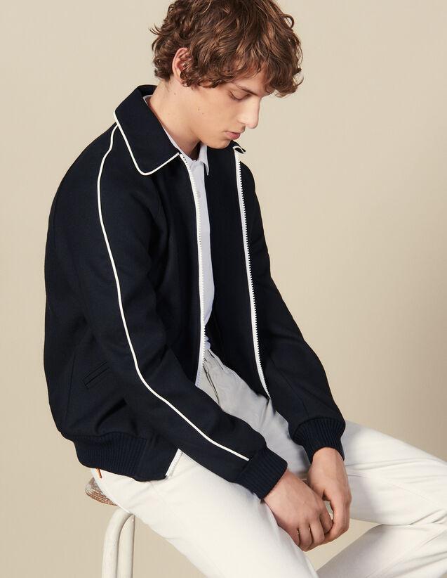 Teddy-Style Jacket : Blazers & Jackets color Navy Blue