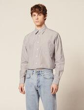 Formal Striped Cotton Shirt : Sélection Last Chance color White/Blue