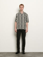 Short-sleeved printed shirt : Shirts color Ecru/Black