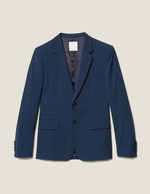 Classic Super 110 Suit Jacket : New Collection color Petrol
