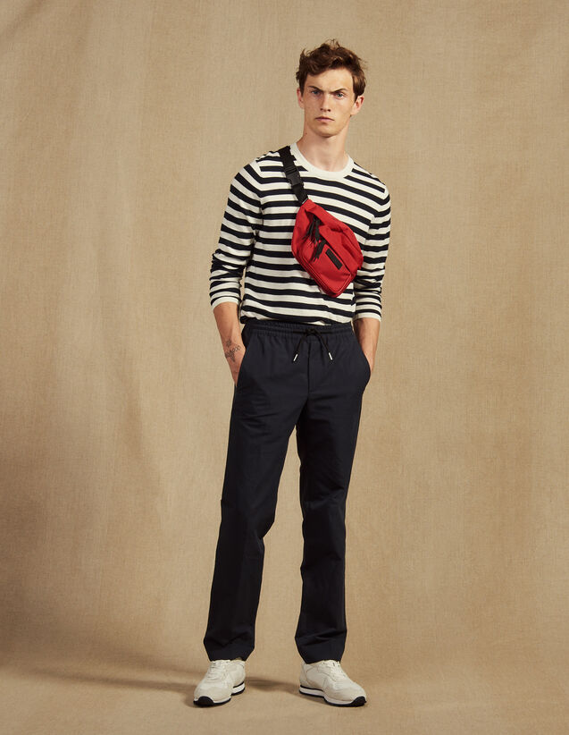 Smart Cotton/Linen Trousers : All Selection color Navy Blue