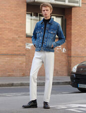Straight-Cut White Jeans : All Selection color white