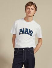 T-Shirt With Patch Lettering : Sélection Last Chance color white