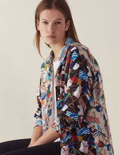 All-Over Flag Print Shirt : null color Multi-Color