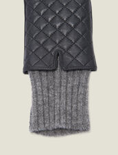 Quilted Leather Gloves : Gloves & Hats color Black