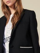 Blazer jacket embellished with beads : Blazers & Jackets color Black