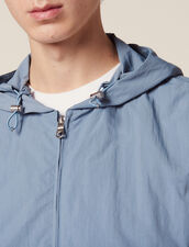Technical Jacket With Hood : All Selection color Bluish Grey