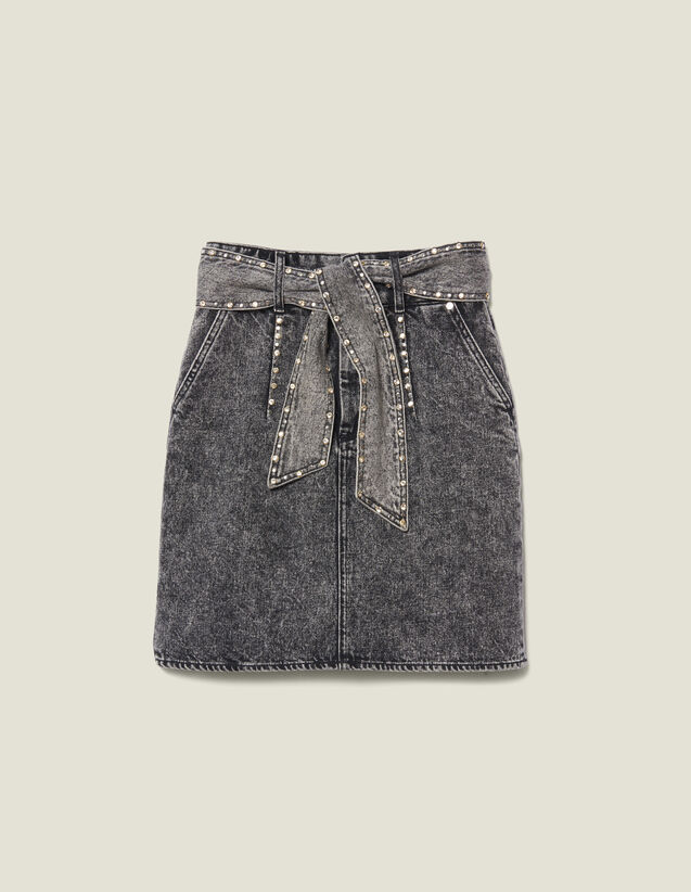 High-Waisted Skirt With Belt : FBlackFriday-FR-FSelection-30 color Black