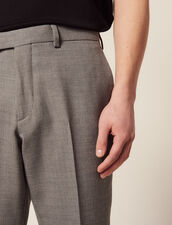 Wool Suit Trousers : Suits & Tuxedos color Light Grey