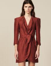 Short Wraparound Dress : LastChance-ES-F50 color Wine