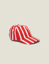 Cap With Contrasting Stripes : Sélection Last Chance color Red