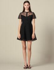 Guipure skater dress : LastChance-ES-F50 color Black