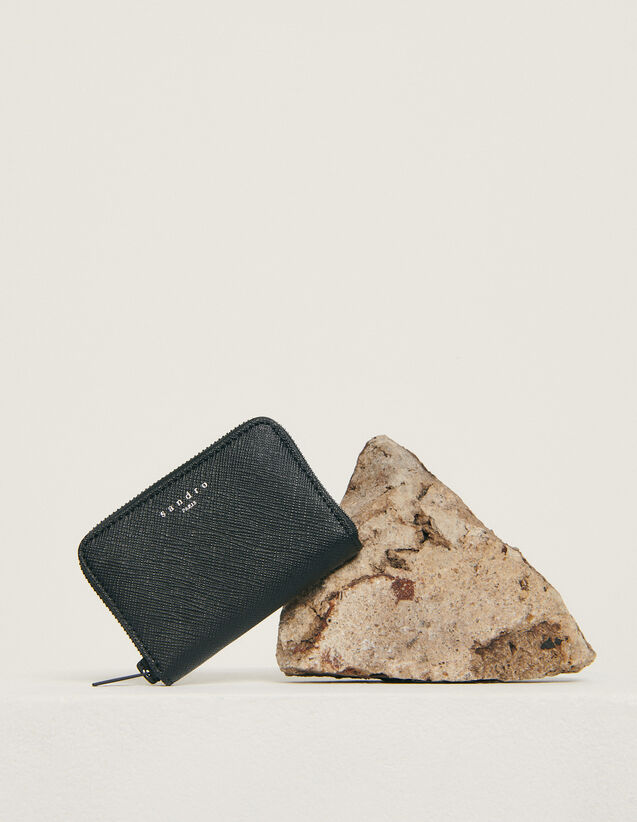 Zipped card holder : Winter Collection color Black