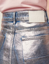 High-Waisted Coated Flared Jeans : All Selection color Silver