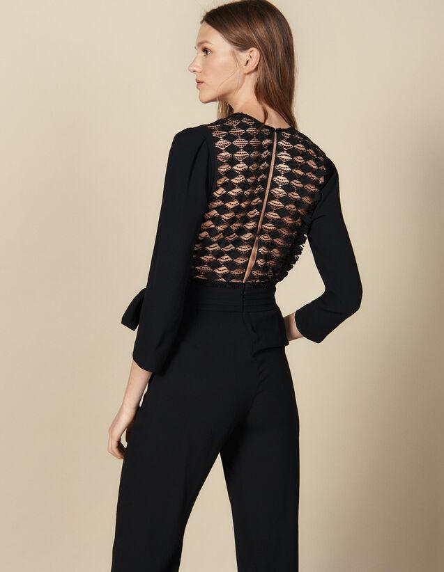 Wrapover Jumpsuit : Jumpsuits color Black