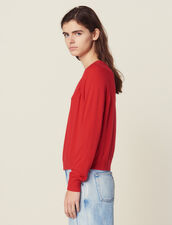 Long-Sleeved Wool Sweater : All Selection color Red