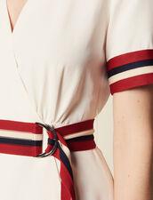 Wraparound Dress With Ribbed Edging : LastChance-FR-FSelection color Ecru