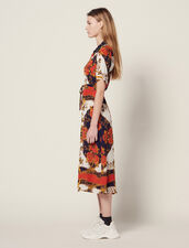 Shirt Dress With Scarf Print : Dresses color Multi-Color