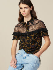 Short-Sleeved Printed Shirt : All Selection color Black