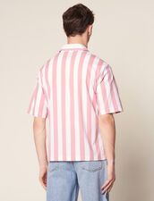 Casual Striped Short-Sleeved Shirt : Sélection Last Chance color Pink