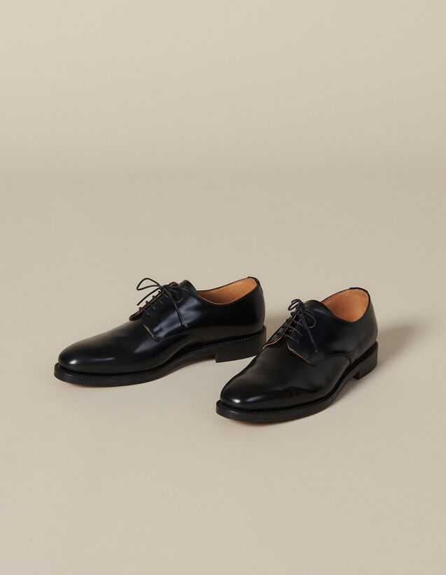 Leather Derby Shoe : New Collection color Black