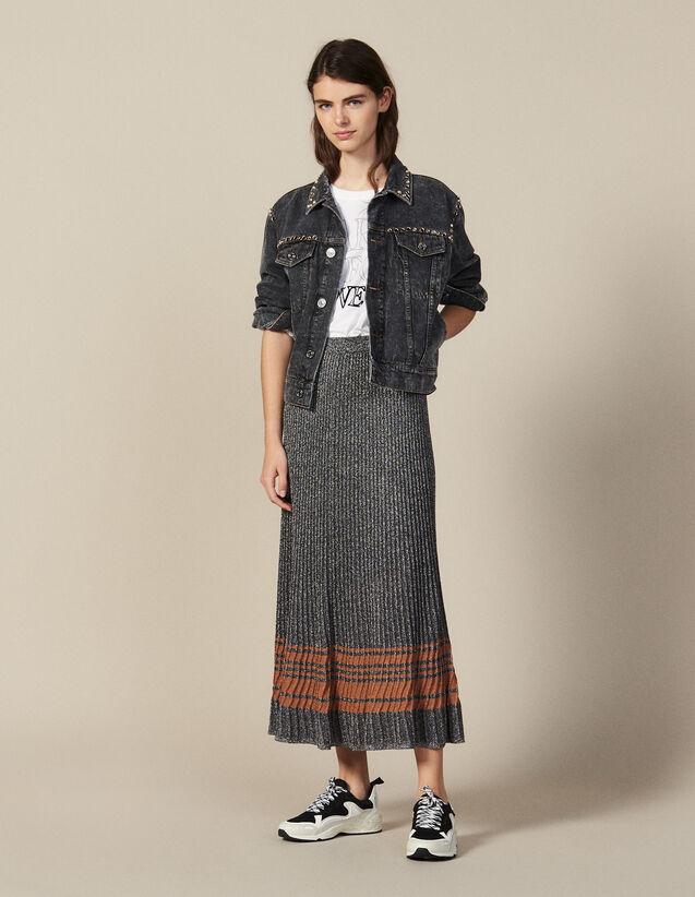 Lurex Knit Midi Skirt : Copy of VP-FR-FSelection-PAP&ACCESS color Silver