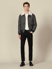 Wool aviator jacket : LastChance-IT-H50 color Grey
