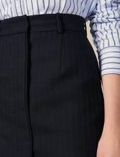 Pinstriped Tailored Short Skirt : LastChance-ES-F50 color Black