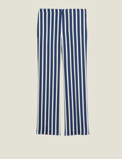Trousers With Contrasting Stripes : LastChance-RE-HSelection-Pap&Access color Navy Blue